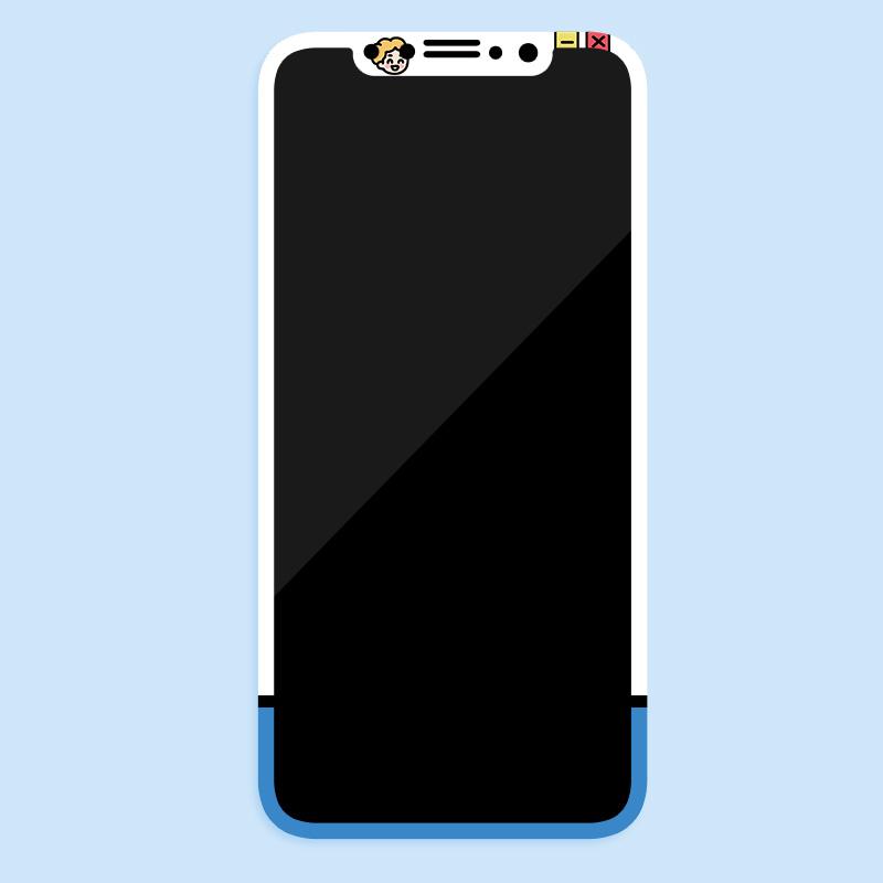 和风猫饭可爱苹果iphone XS MAX/XS/XR图案钢化膜保护膜手机膜贴
