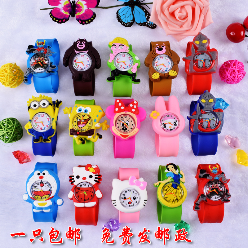 Childrens Watch Cartoon Car Spider-man Ice Snow Princess Digital Watch Child Toy Patted Watch Birthday Gift Electronic Clock Watches