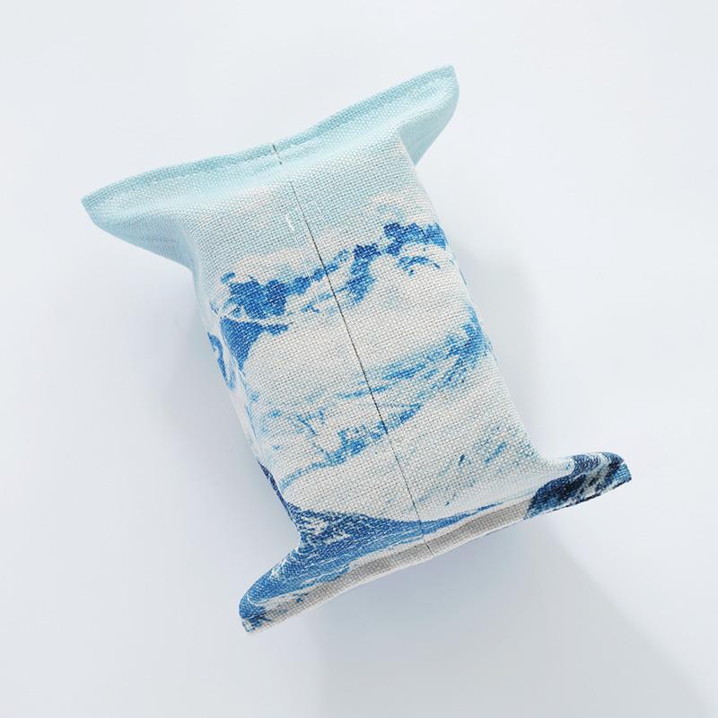 风景系列棉麻纸巾套布艺 简约客厅餐厅纸巾袋餐巾纸抽纸巾盒车用