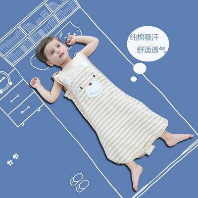 婴儿睡袋 夏季薄款空调房彩棉吊带儿童纯棉背心式宝宝可把尿睡袋