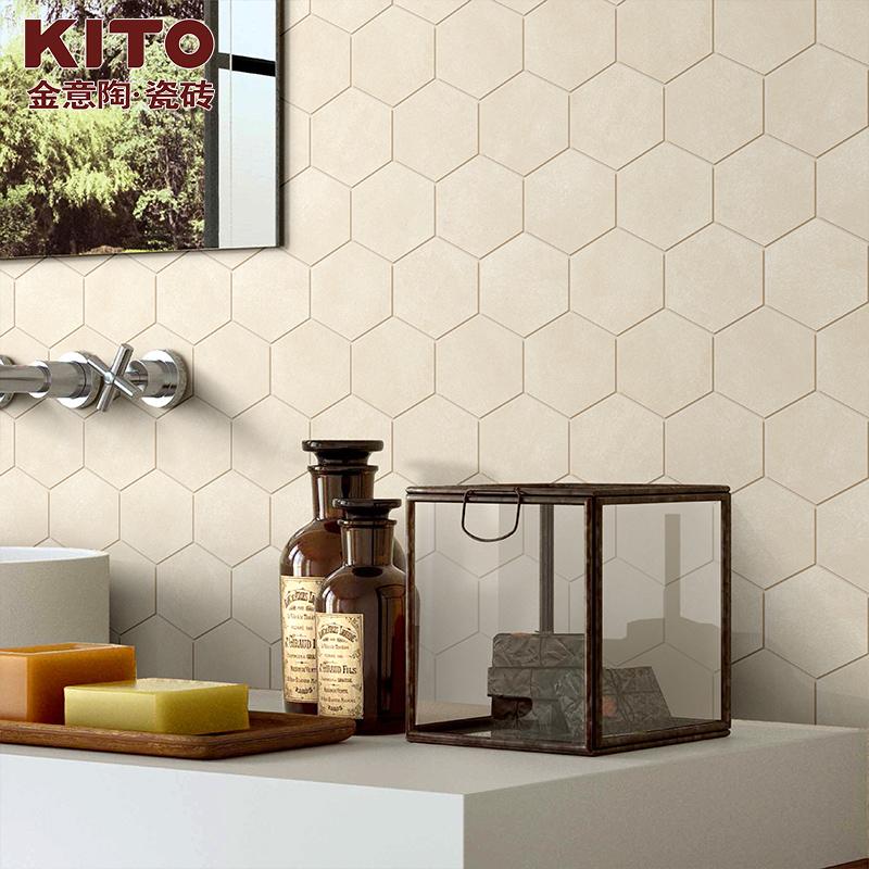 金意陶 仿古砖地砖客厅墙砖 厨房卫生间瓷砖 依云米黄