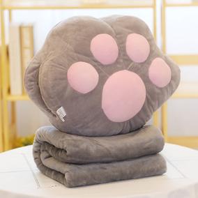 抱枕被子两用暖手抱枕插手毛绒午睡毯子可爱被办公室靠垫腰靠男女