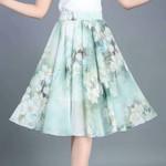腰裙短裙半身裙印花
