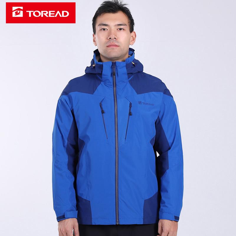 探路者外套男装2019秋冬季新款户外运动服耐磨透气舒适冲锋衣夹克