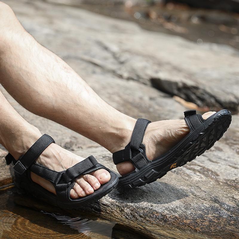 狼爪男鞋2019夏季户外休闲拖鞋防滑鞋子男士沙滩鞋溯溪鞋运动凉鞋
