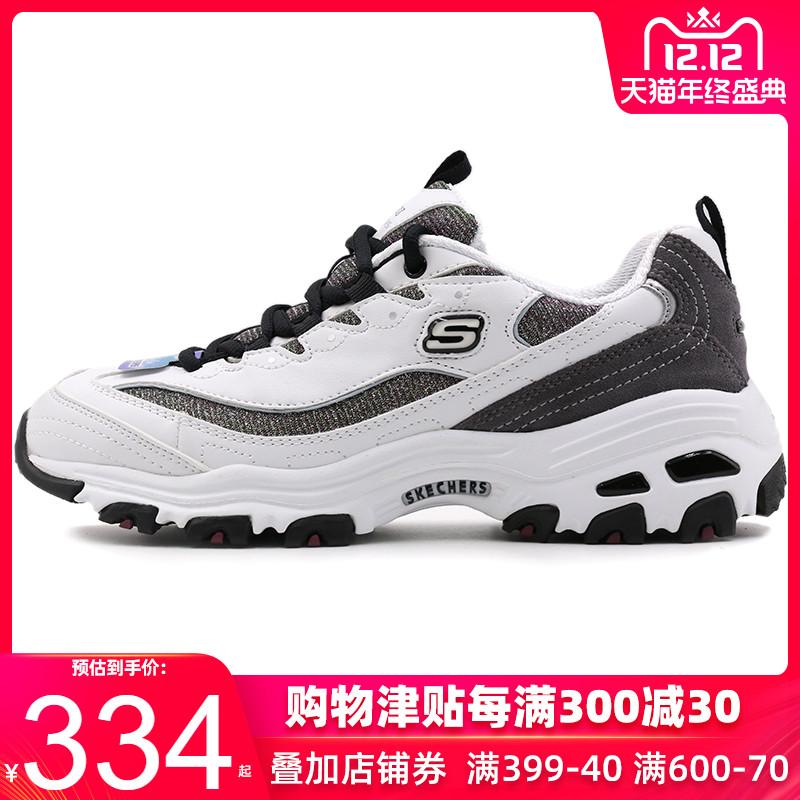 斯凯奇女鞋2019秋冬季新款黑白熊猫鞋时尚跑步鞋运动鞋休闲鞋板鞋