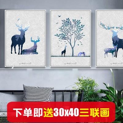 北廳裝飾畫畫心餐廳掛畫抽像沙發背景三聯畫墻畫噴繪畫布畫芯品牌資訊