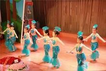 新款美人鱼仙子舞蹈服女童演出服儿童动物造型服装幼儿小鱼表演服