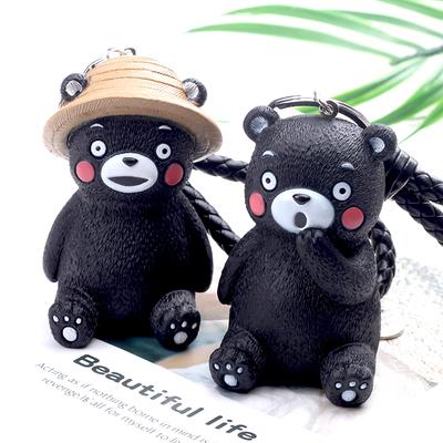 可爱小熊挂件书包挂饰可爱女呆萌卡通公仔日本熊本熊钥匙扣链环圈