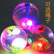 Best selling children's luminous toy flash elastic crystal ball jump vent ball Yiwu toy 1-2 yuan night market stall