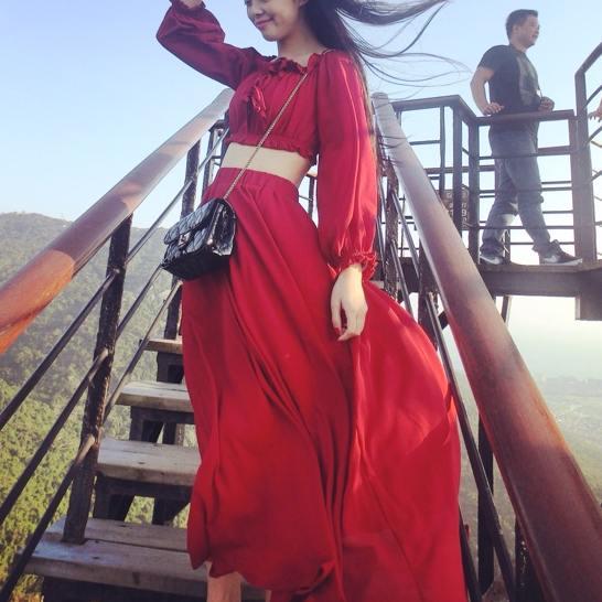 韩国长沙滩裙