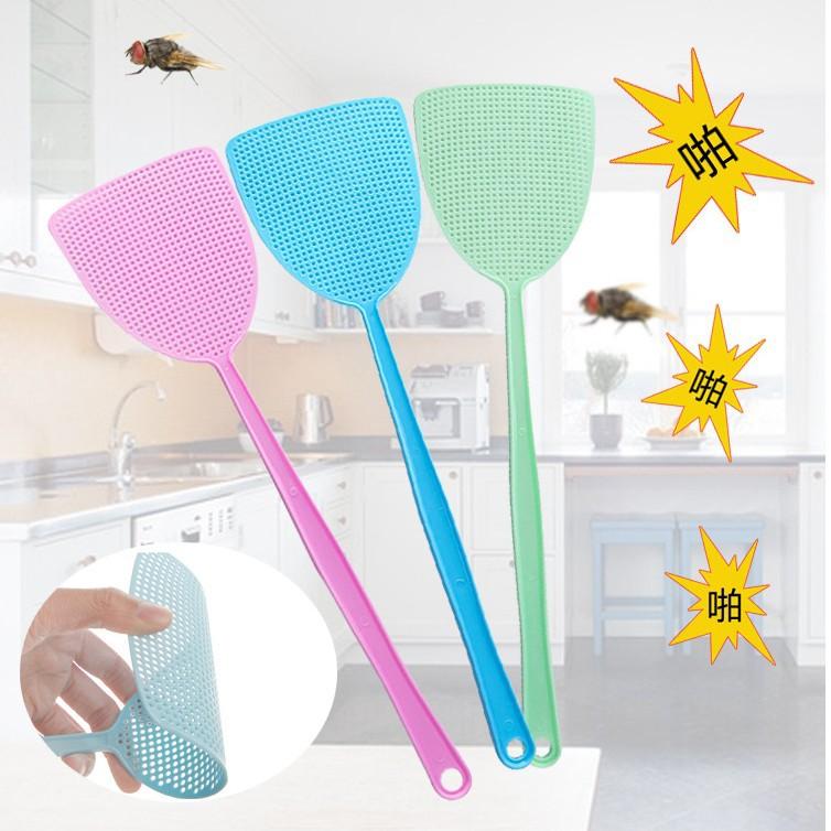 家用夏季塑料苍蝇拍灭蚊拍耐用网面长柄手动灭苍蝇拍买一送一