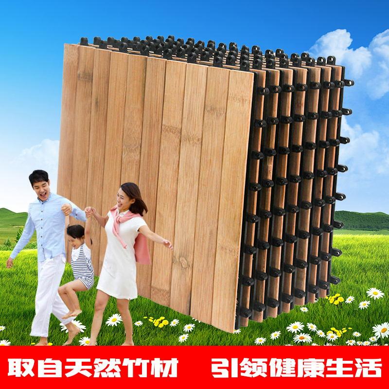 防腐碳化木竹子地板阳台露台户外庭院花园室外拼接木地板实木地板