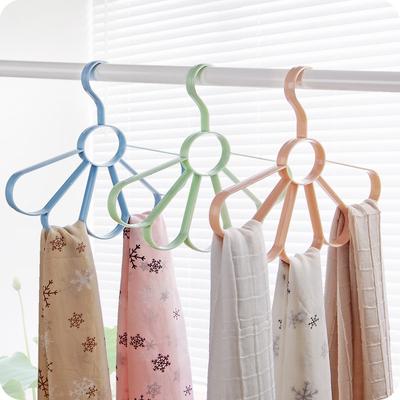 挂围巾的多功能衣架家用创意领带腰皮带收纳架子圈圈环丝巾挂架