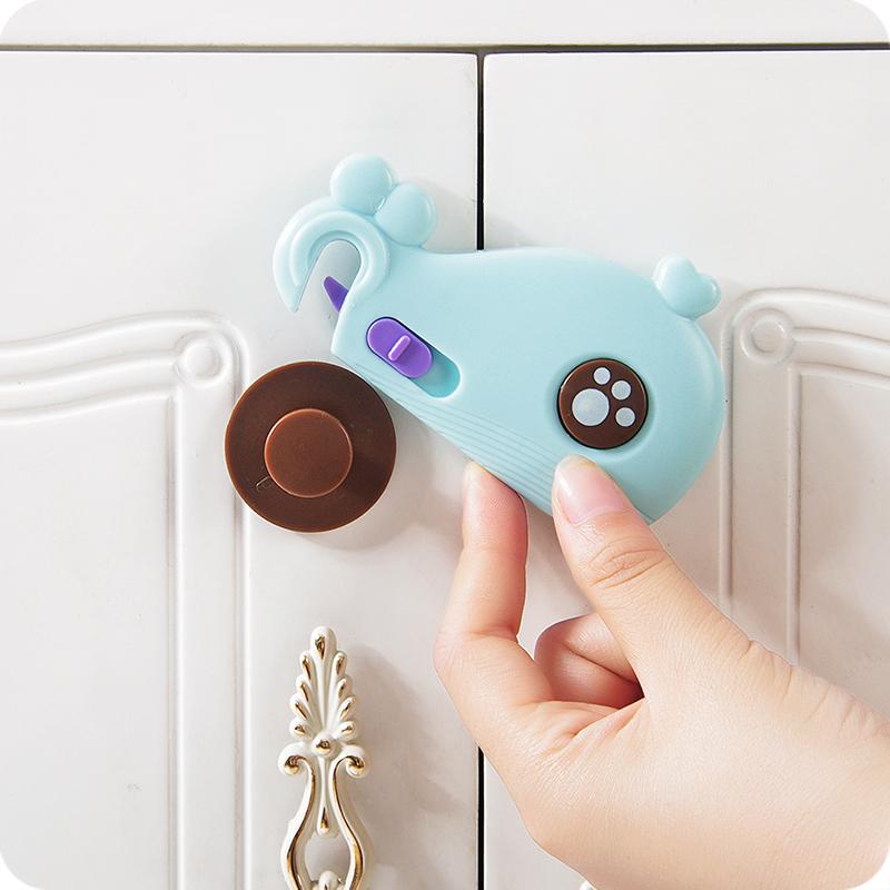 优思居 多功能儿童抽屉锁 防夹手冰箱安全锁宝宝防护窗户橱柜门锁