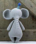 材料包非成品 钩针宝宝玩具 毛线手工编织晚安大象玩偶 多彩线艺