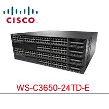 思科三层核心千兆交换机 WS-C3650-24TD-E 24口增强型