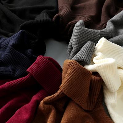 男士高领毛衣冬季毛衫针织衫韩版修身紧身潮流白色黑色保暖打底衫
