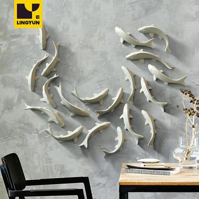 墙面装饰品群鱼挂件 家居电视背景墙创意中式 立体陶瓷鱼壁饰墙饰怎么样