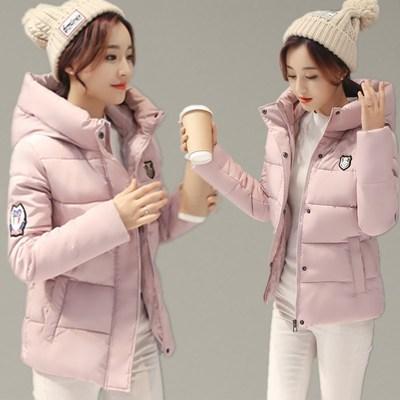 连帽棉服女短款韩版学生冬季外套新款小棉袄反季处理冬装修身棉衣