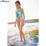 Spot NEXT girl hot spring one-piece swimsuit 2019 summer big boy green flamingo brother swimsuit 3-16