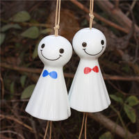 One meter porcelain Jingdezhen ceramics Japanese Japanese style small sunny day doll wind chime crystal ornaments door decoration Edo ornaments