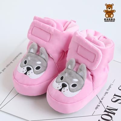 婴儿棉鞋防水冬季软底加厚保暖0-1岁6-12个月宝宝不掉鞋学步鞋