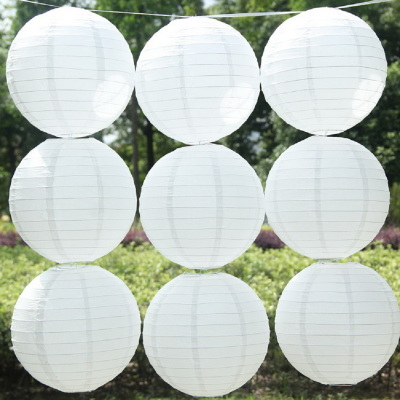 Hot Selling 1 Piece White Chinese Paper Lanterns For Festiva
