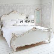 出口法国实木家具 法式实木雕花床 美式双人床