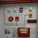 Fire extinguisher Gas release Automatic Control Panel 4 zone