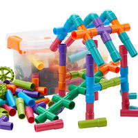 Water pipe building blocks assembled 4 boys 5 intellectual 9 baby 1-2 girls 3-6 years old 7 baby children toys