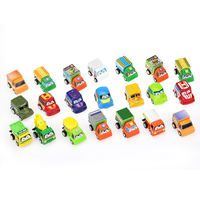 Children's toys 1 bag 6 cars Car toy boy baby mini pull back car inertia engineering car set