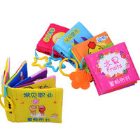 0-1-3 years old baby cloth book Early childhood baby 6-12 months can bite stereo tearing bad educational toy book
