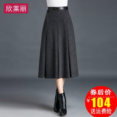 冬裙厚长裙