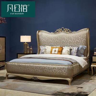 欧式床双人床新古典实木床1.8米大床奢华法式布艺床主卧公主床婚