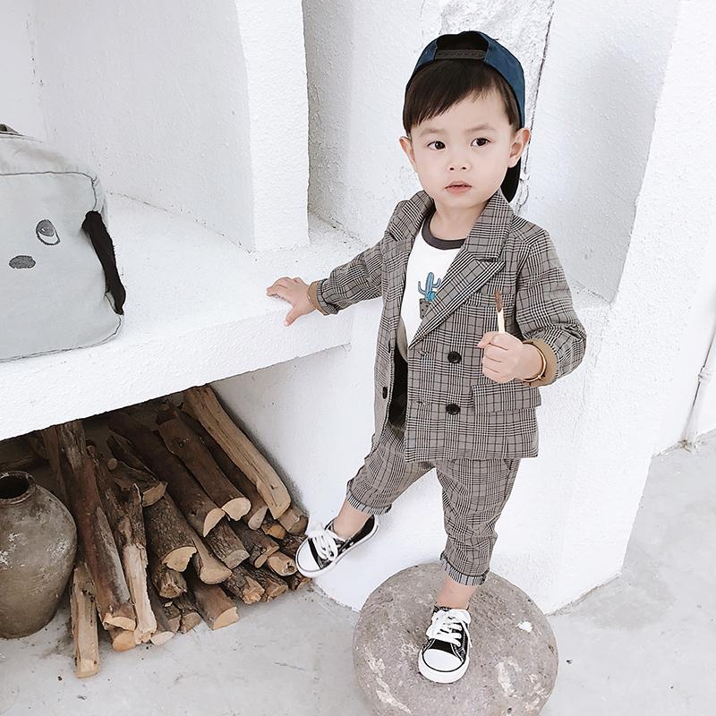 男童西装套装2018新款宝宝秋装2岁儿童西服外套两件套小童衣服潮
