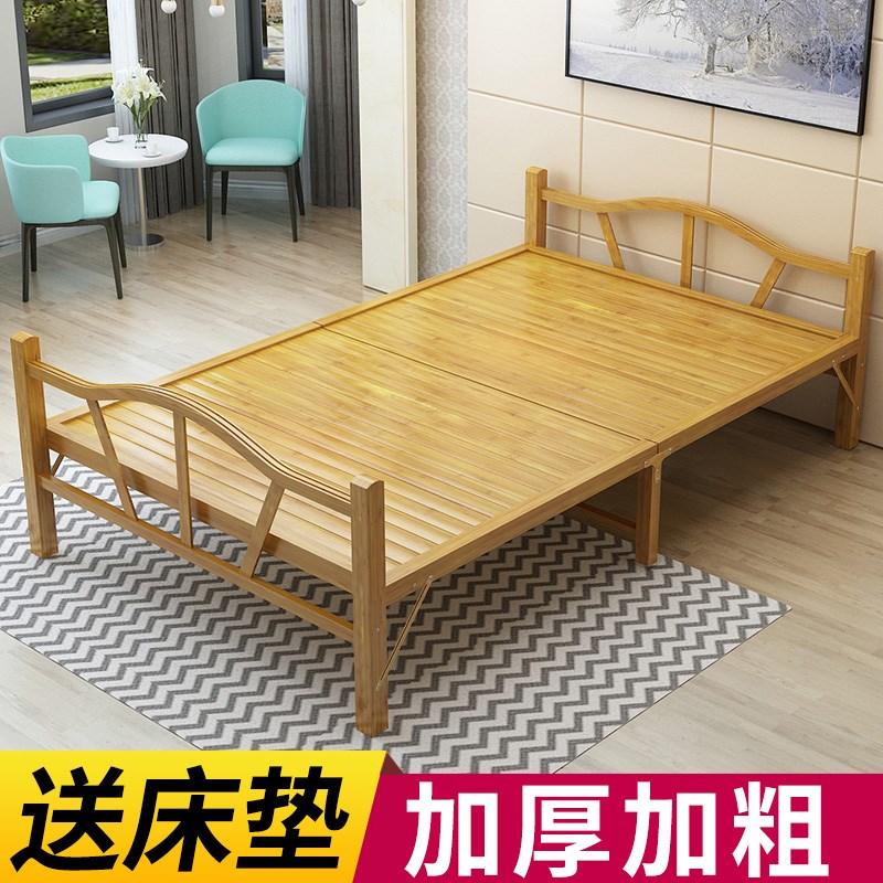 。竹床老式手工 传统人午休简易午睡实木板成人家用1.2米1.5硬板