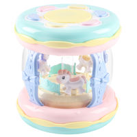 Baby toys 6-12 months puzzle baby music hand drums children pat drum charging carousel toys