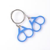加强版求生钢丝锯线据不锈钢丝绳万向软链锯野外长锯毛刺防身工具图片
