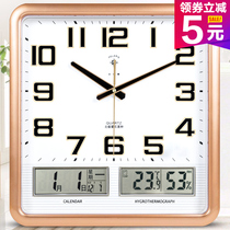 Polaris Electronic clock living room bedroom clock creative mute personality fashion calendar Clock Quartz clock Home