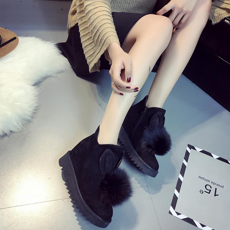 新款秋冬毛毛短靴