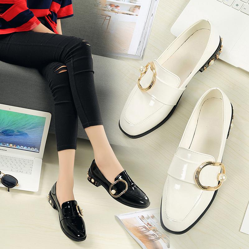韩版时尚百搭小皮鞋女