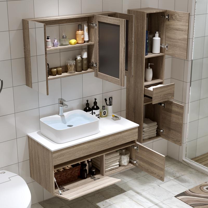 北欧实木浴室柜洗脸盆洗手盆柜组合卫生间洗漱台盆简约现代卫浴柜