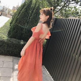 2019新款女装长裙海边度假裙沙滩裙女夏季雪纺波西米亚连衣裙 女