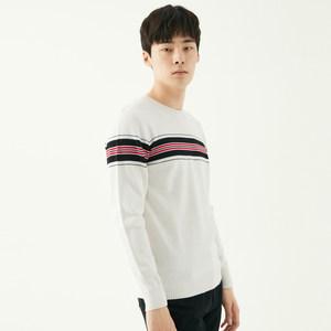 GXG毛衫男装 冬季男士时尚青年休闲流行白色圆领套头毛衣针织衫男