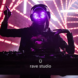Miss REZZ with the same paragraph LED luminous color changing laser laser glasses hundred DJ on the head of the glasses