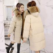 2017冬装新款女装韩版百搭面包羽绒棉服中长款过膝棉衣棉袄外套潮