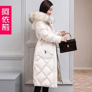 2017冬季新款女装韩版修身棉衣外套中长款过膝百搭羽绒棉服棉袄潮
