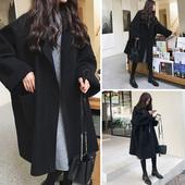 流行妮子 2018新款 加厚毛呢子外套女秋冬季学生森系大衣中长款 韩版图片