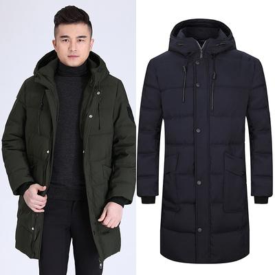 棉衣男中长款加肥加大码200斤冬装新款韩版中年男士休闲羽绒棉服